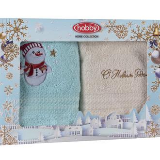 Подарочный набор полотенец-салфеток 30*50 2 шт. Hobby Home Collection НОВОГОДНИЙ хлопковая махра A9