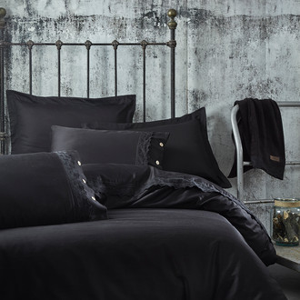 Постельное белье Ecocotton BELINDA органический хлопковый сатин делюкс чёрный