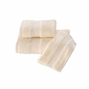 Набор полотенец для ванной в подарочной упаковке 32х50, 50х100, 75х150 Soft Cotton DELUXE хлопковая махра жёлтый