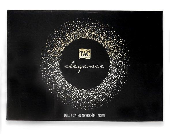 Постельное белье TAC ELEGANCE GINZA хлопковый сатин делюкс золотистый семейный, фото, фотография