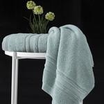 Полотенце для ванной Karna SERRA хлопковая махра зелёный 70х140, фото, фотография