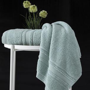 Полотенце для ванной Karna SERRA хлопковая махра зелёный 50х90