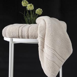 Полотенце для ванной Karna SERRA хлопковая махра бежевый 50х90