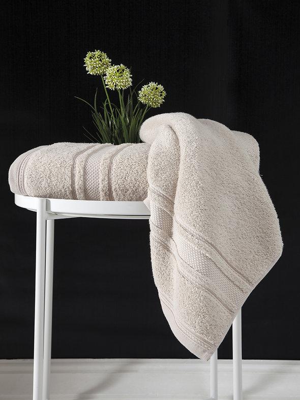 Полотенце для ванной Karna SERRA хлопковая махра (бежевый) 50*90, фото, фотография