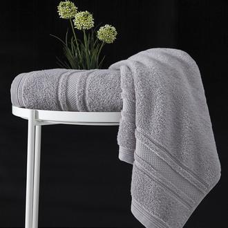Полотенце для ванной Karna SERRA хлопковая махра (серый) 70*140