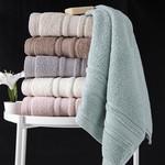 Полотенце для ванной Karna SERRA хлопковая махра серый 50х90, фото, фотография