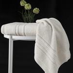 Полотенце для ванной Karna SERRA хлопковая махра кремовый 50х90, фото, фотография