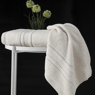 Полотенце для ванной Karna SERRA хлопковая махра кремовый 50х90