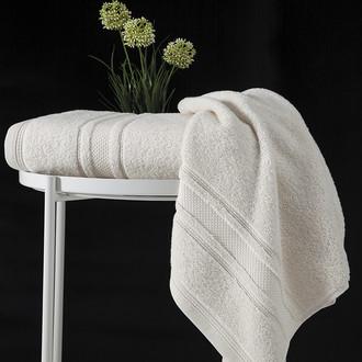 Полотенце для ванной Karna SERRA хлопковая махра (кремовый) 70*140