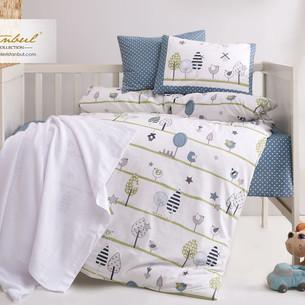 Постельное белье для новорожденных Istanbul Home Collection BIRDLY серый