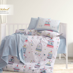 Постельное белье для новорожденных Istanbul Home Collection BIRD HOUSE синий