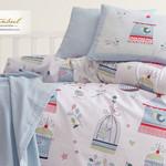 Постельное белье для новорожденных Istanbul Home Collection BIRD HOUSE синий, фото, фотография