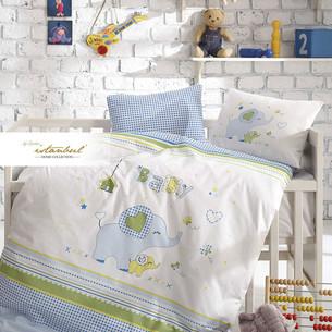 Постельное белье для новорожденных Istanbul Home Collection HAPPY синий