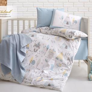 Постельное белье для новорожденных Istanbul Home Collection JUNGLE синий