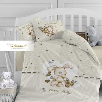 Детское постельное белье в кроватку для новорожденных Istanbul Home Collection LITTLE BABY (кремовый)