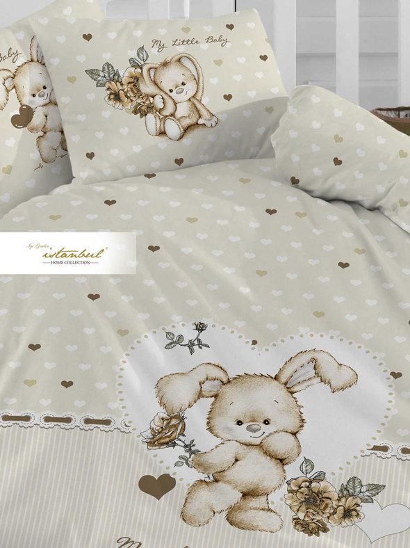 Детское постельное белье в кроватку для новорожденных Istanbul Home Collection LITTLE BABY (кремовый), фото, фотография