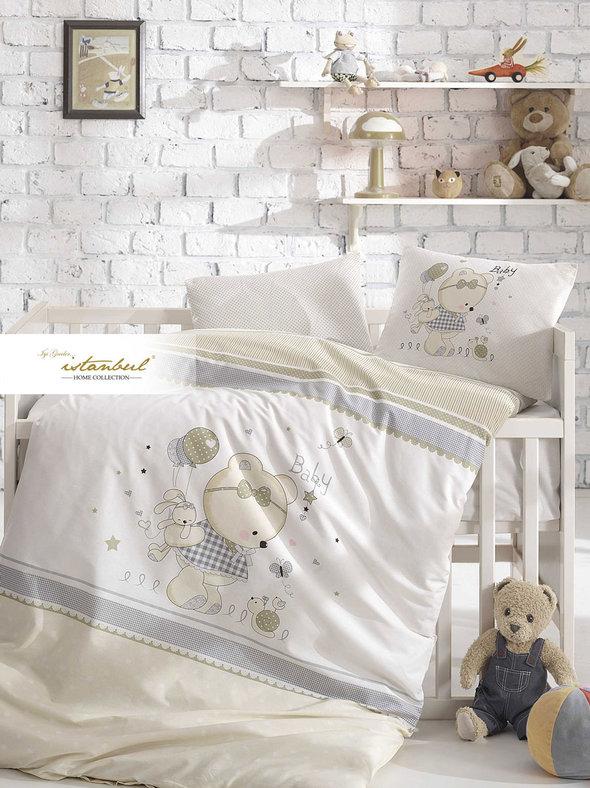 Детское постельное белье в кроватку для новорожденных Istanbul Home Collection TEDDY, фото, фотография