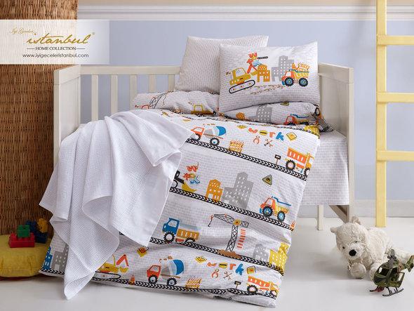 Детское постельное белье в кроватку для новорожденных Istanbul Home Collection TRUCK, фото, фотография