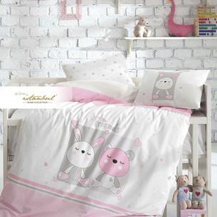 Постельное белье для новорожденных с пледом-пике Istanbul Home Collection FRIENDS розовый
