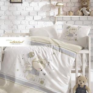 Постельное белье для новорожденных с пледом-пике Istanbul Home Collection TEDDY