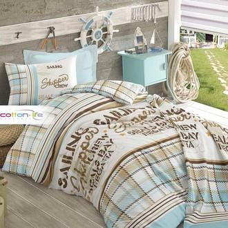 Детское постельное белье Istanbul Home Collection COTTON LIFE SKIPPER ранфорс синий