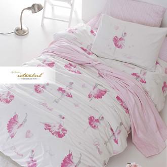 Детское постельное белье Istanbul Home Collection GENC RANFORCE BALLERINA хлопковый ранфорс