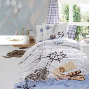 Детское постельное белье Istanbul Home Collection GENC RANFORCE NEW OCEAN хлопковый ранфорс 1,5 спальный
