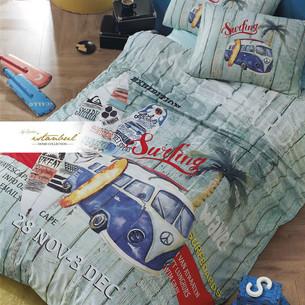 Детское постельное белье Istanbul Home Collection GENC RANFORCE SURFER хлопковый ранфорс 1,5 спальный