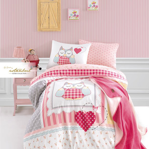Детское постельное белье с пледом Istanbul Home Collection GENC RANFORCE LULU хлопковый ранфорс 1,5 спальный