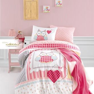 Детское постельное белье с пледом Istanbul Home Collection GENC RANFORCE LULU хлопковый ранфорс