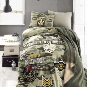 Детское постельное белье с пледом Istanbul Home Collection GENC RANFORCE PEACE хлопковый ранфорс 1,5 спальный