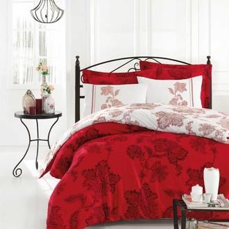 Постельное белье Istanbul Home Collection BIANCO хлопковый сатин красный