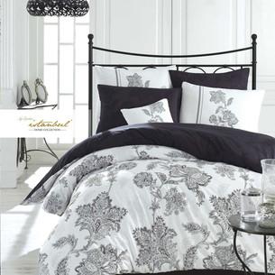 Постельное белье Istanbul Home Collection BIANCO хлопковый сатин чёрный евро