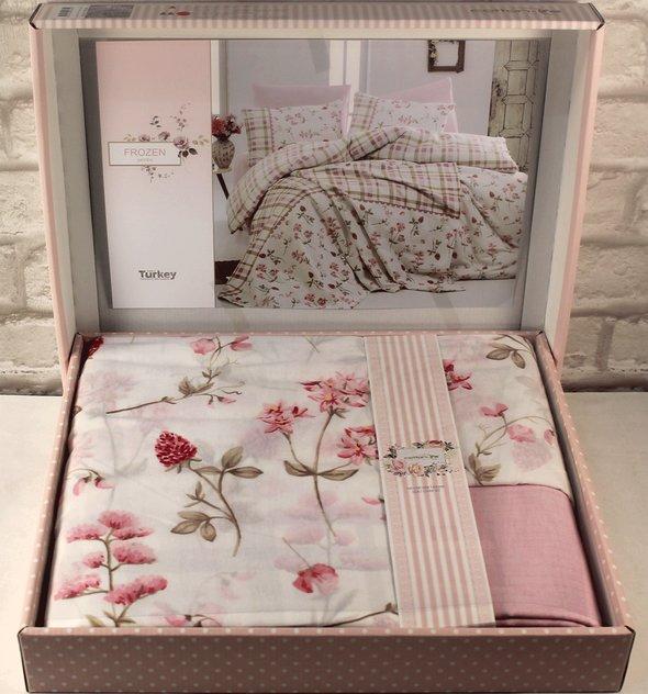 Постельное белье Istanbul Home Collection COTTON LIFE FROZEN ранфорс розовый 1,5 спальный, фото, фотография