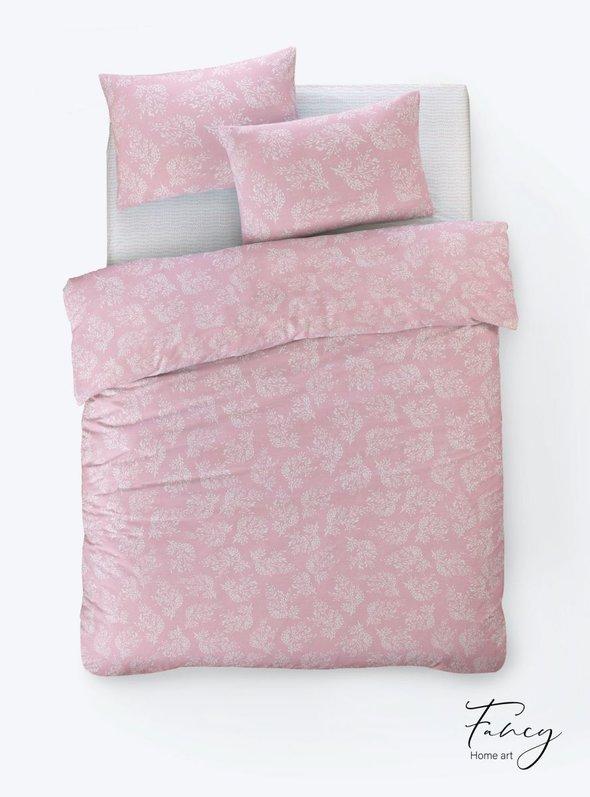Постельное белье Istanbul Home Collection FANCY ALIZE ранфорс розовый евро, фото, фотография