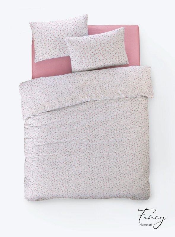 Постельное белье Istanbul Home Collection FANCY TIFFANY ранфорс розовый 1,5 спальный, фото, фотография