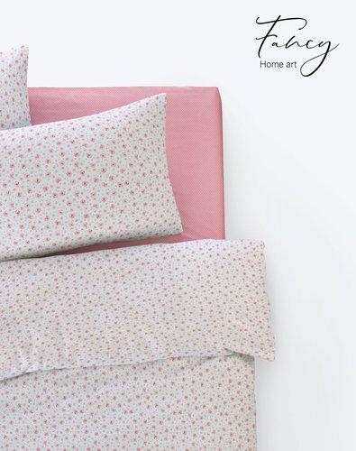 Постельное белье Istanbul Home Collection FANCY TIFFANY ранфорс розовый евро, фото, фотография