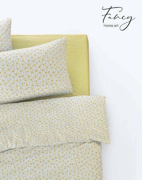 Постельное белье Istanbul Home Collection FANCY TIFFANY ранфорс жёлтый 1,5 спальный, фото, фотография
