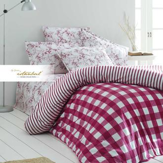 Постельное белье Istanbul Home Collection FLANEL VERONA хлопковая фланель красный