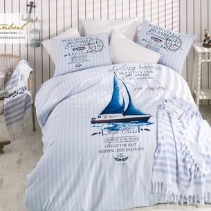 Постельное белье Istanbul Home Collection MARINE CRUISE хлопковый ранфорс евро