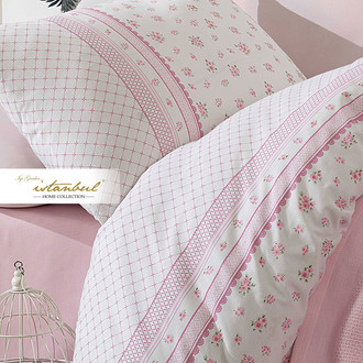 Постельное белье с покрывалом-пике Istanbul Home Collection FLORIDA хлопковый ранфорс (розовый)