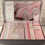 Постельное белье с покрывалом-пике Istanbul Home Collection GLORIA хлопковый ранфорс розовый евро, фото, фотография