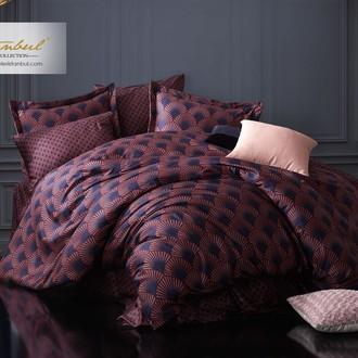 Постельное белье Istanbul Home Collection PURE SATIN ALVINE хлопковый сатин синий