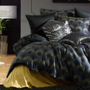 Постельное белье Istanbul Home Collection PURE SATIN ALVINE хлопковый сатин чёрный евро