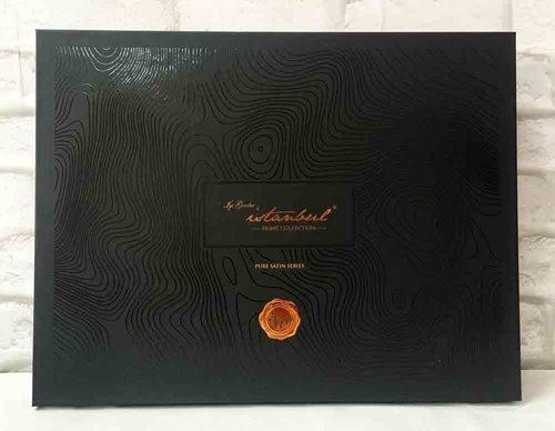 Постельное белье Istanbul Home Collection PURE SATIN GARDENIA хлопковый сатин коричневый евро, фото, фотография