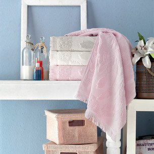 Набор полотенец для ванной 4 шт. Pupilla AMAZON хлопковая махра 70х140