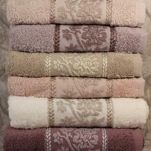 Набор полотенец для ванной 6 шт. Pupilla BELLA хлопковая махра 70х140