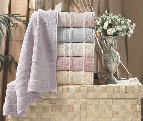Набор полотенец для ванной 6 шт. Pupilla DIAMOND бамбуковая махра 70х140, фото, фотография