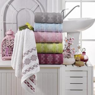 Набор полотенец для ванной 6 шт. Pupilla ELENA бамбуковая махра 70х140