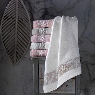 Набор полотенец для ванной 6 шт. Pupilla SELENA бамбуковая махра